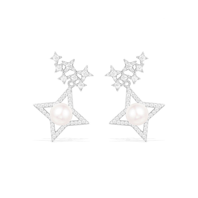 Pearl Star Earrings/S925