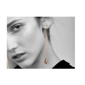 Tear Drop Long Earrings