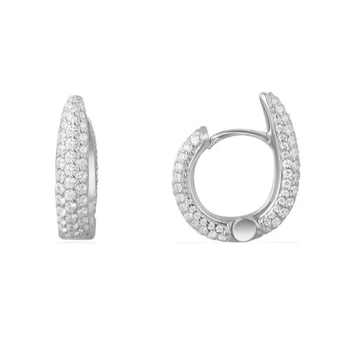 Dome Hoop Earrings/S925