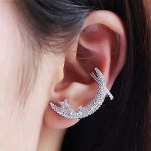 Moon Clip Single Earring/S925