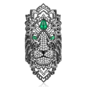 Lion Ring/Dark Grey S925