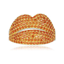 Red/Orange Lip Rings/S925