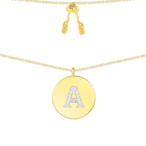 Alphabet ID Pendant Necklace/S925