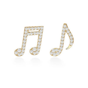 Musical Note Earrings/S925