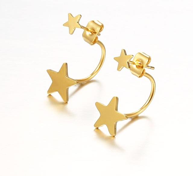 Double Star Ear Jacket Earrings - Bit of Me