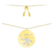 Robot Coin Pendant Necklace