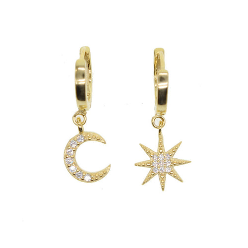 Moon Star Mismatch Earrings