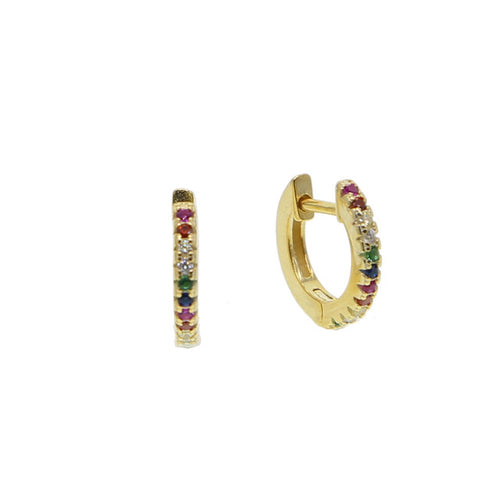 Rainbow Mini Hoop Earrings