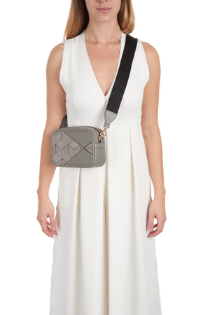 rove belt bag (stone) on model crossbody