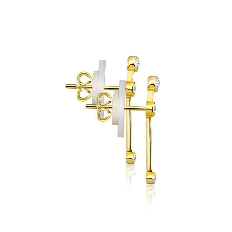Aries Constellation Diamond Earrings