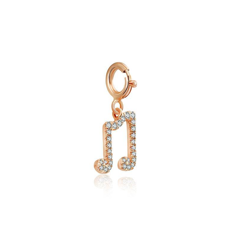Double Eighth Note Diamond Bracelet Charm