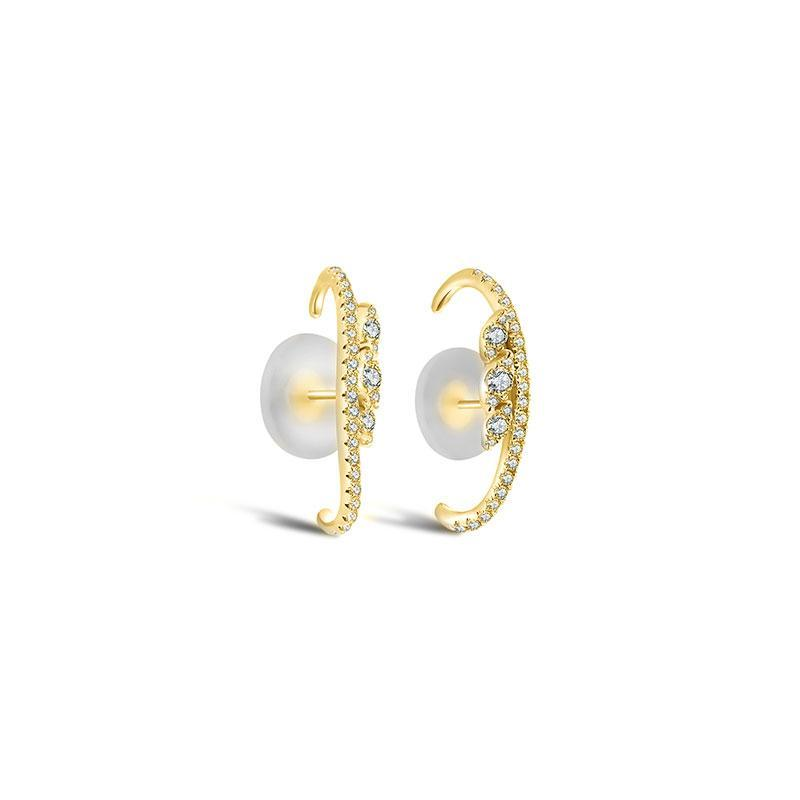 Marquise Detail Pave Diamond Earrings