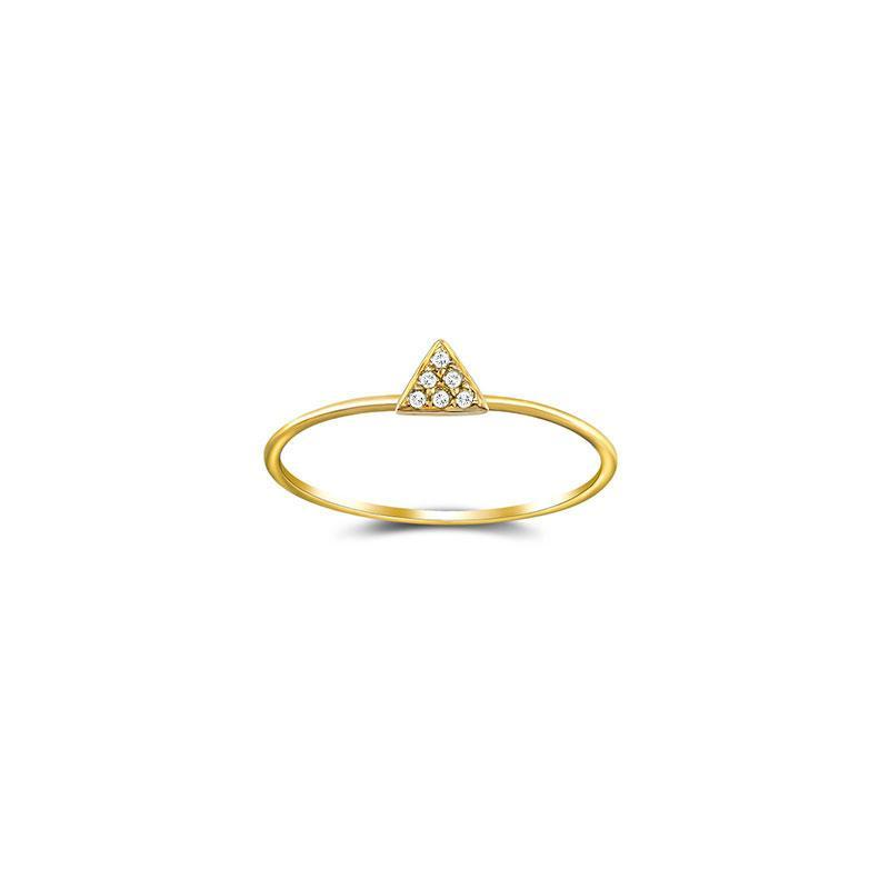 Petite Micro Pave Triangle Stackable Ring