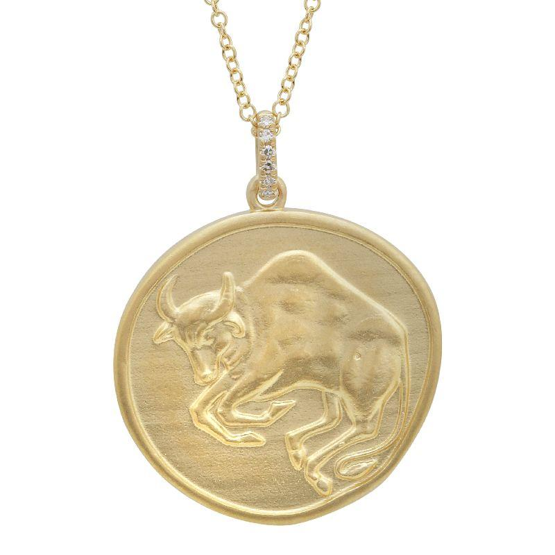 Zodiac Sign Taurus Coin Necklace
