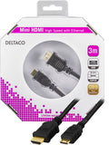 Deltaco Mini HDMI High Speed with Ethernet - kalender data