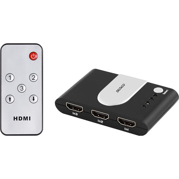 Deltaco HDMI-switch med fjärrkontroll - kalender data