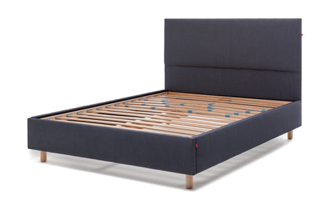 Sid Denim Slatted Bed