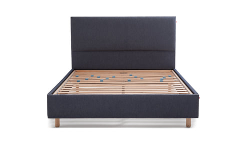 Sid Denim Slatted Bed Headboard