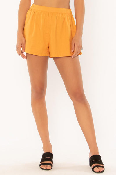 Kickin It Shorts - Toffee Gold