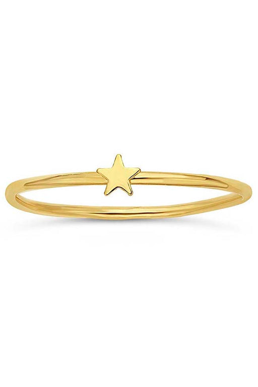 Gypsy Life Star Stacking Ring - Yellow Gold-Filled
