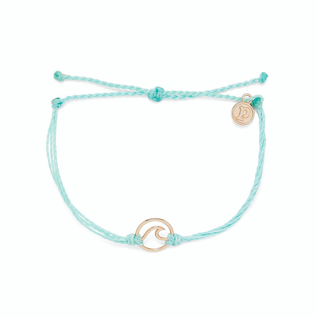 Rose Gold Wave Bracelet - Seafoam