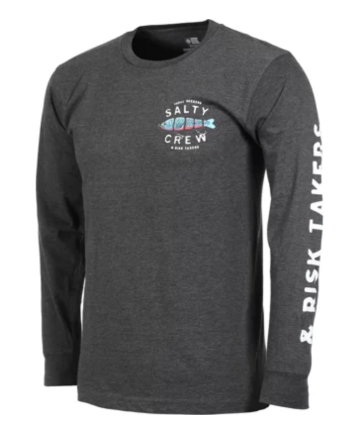 Paddle Tail LS Tee - Charcoal Heather