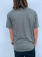 Gypsy Life Surf Shop - Mens Triblend Tee - Cocoon Beach/Palms - Woodland