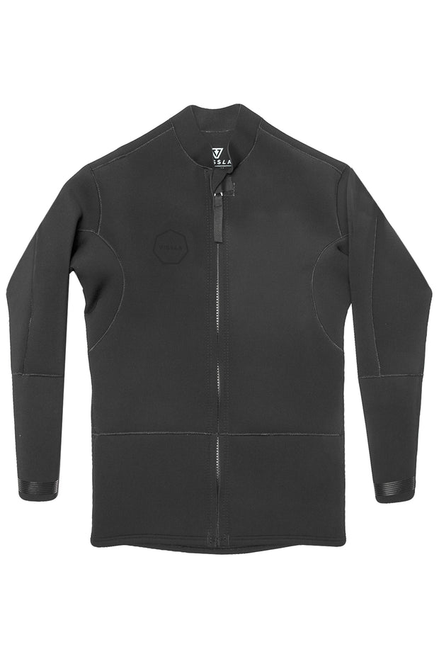 2mm Front Zip Jacket - Stealth