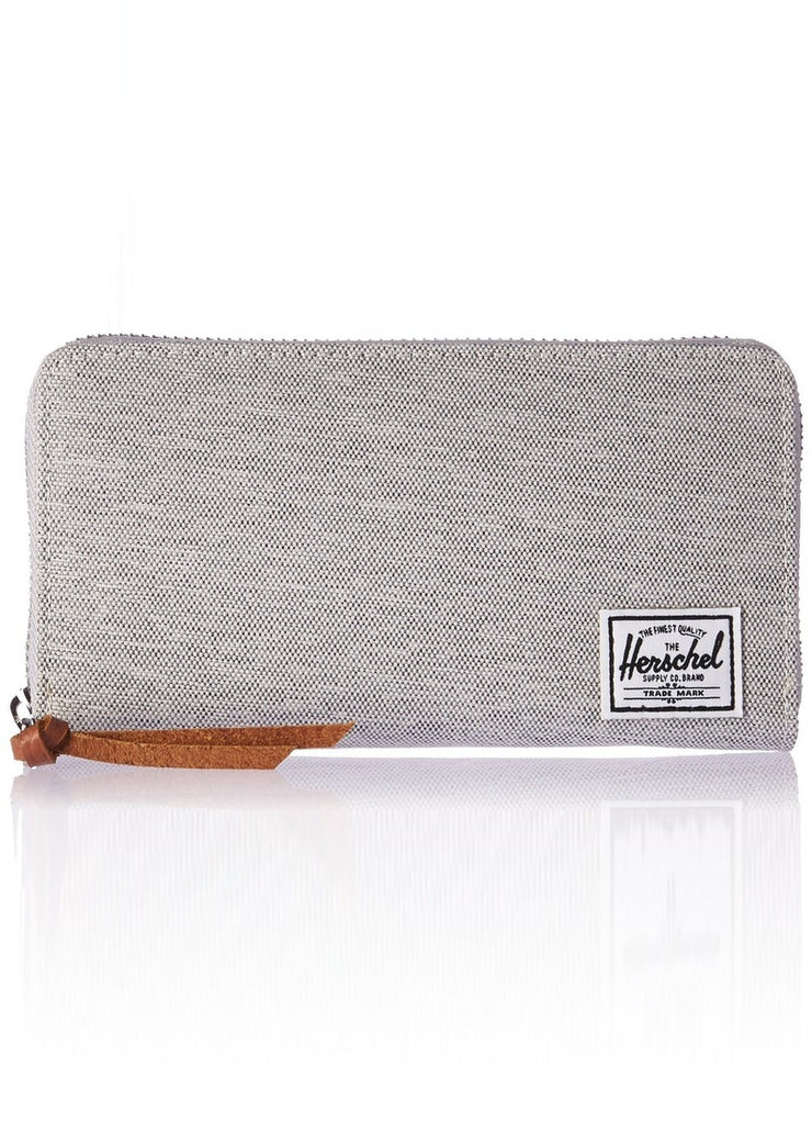 Thomas Wallet - Light Grey Crosshatch