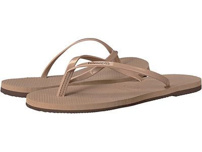 You Metallic Flip Flops - Rose Gold