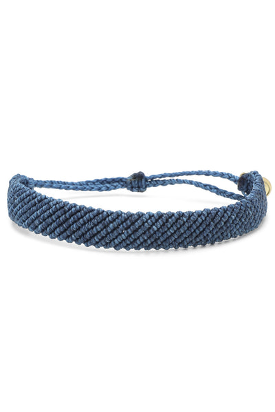 Flat Braided - Blue - Bracelet