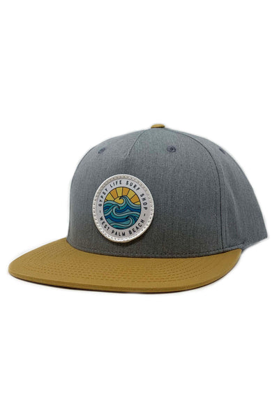 Gypsy Life Surf Shop Hat - Heather Grey/Biscuit