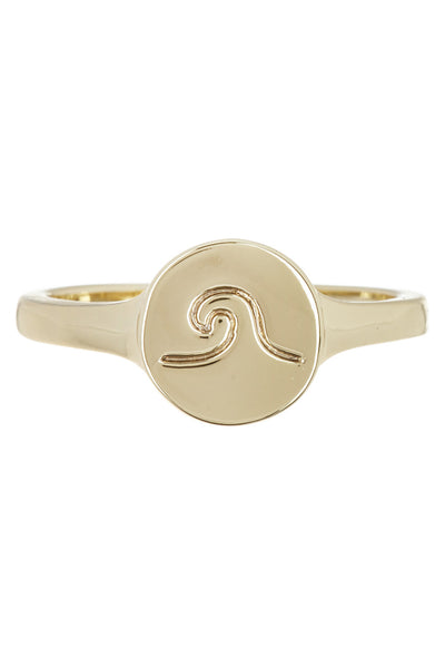 Wave Coin Ring - Gold
