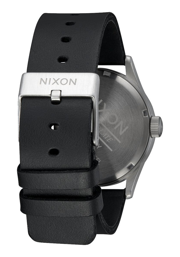 Sentry Leather - All Silver/Black