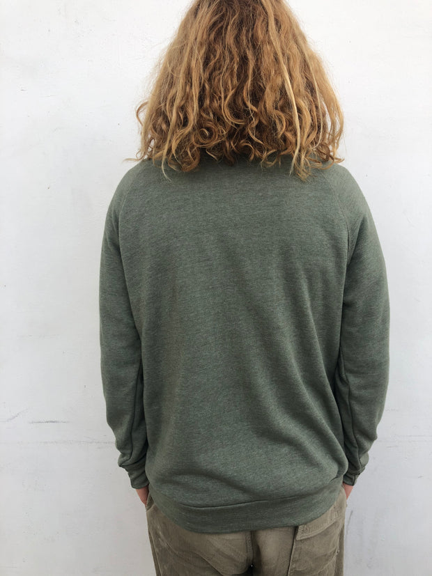 Gypsy Life Surf Shop - Quiver Collection - Eco-Fleece Sweatshirt - Army Green