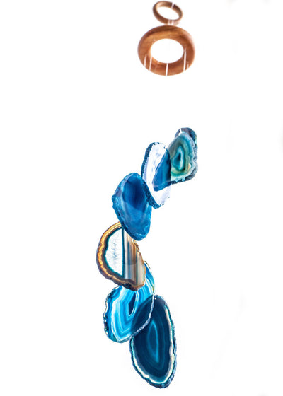 Agate Wind Chime - Blue