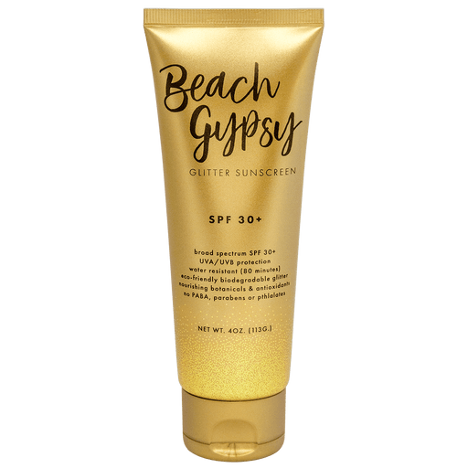 Beach Gypsy SPF 30+ with Gold Glitter - 4 oz.