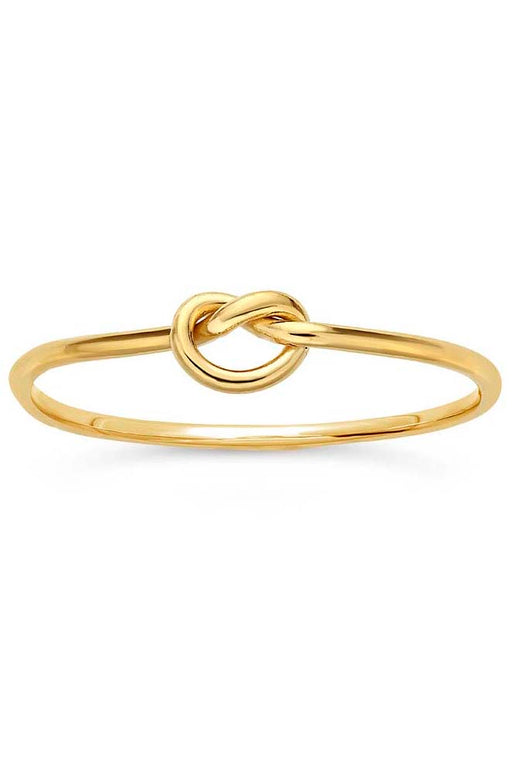 Gypsy Life Love Knot Stacking Ring - Yellow Gold-Filled
