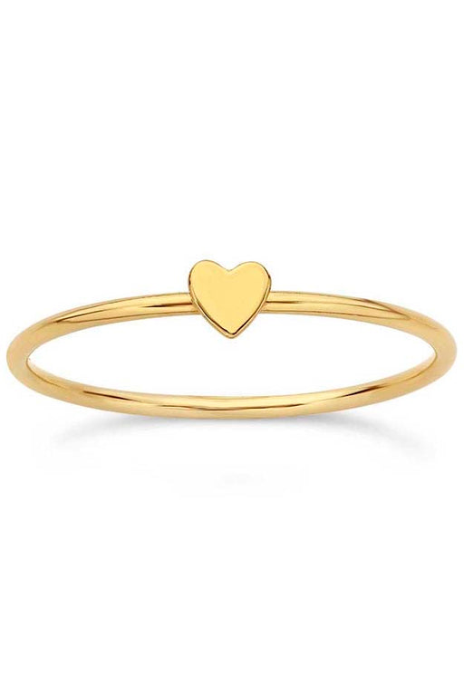 Gypsy Life Heart Stacking Ring - Yellow Gold-Filled