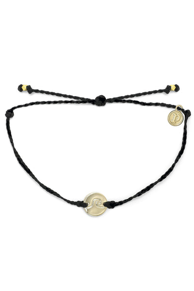 Wave Coin Bracelet Gold - Black