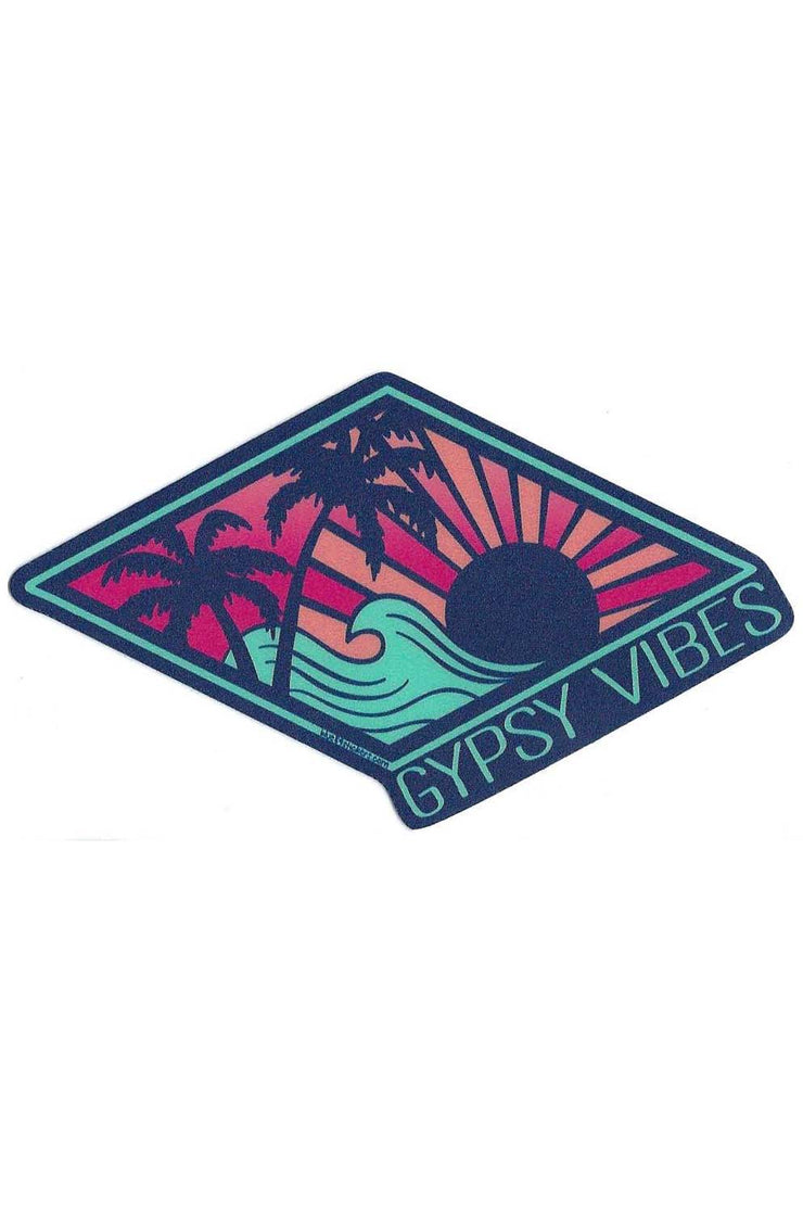 Gypsy Life Surf Shop Sticker - Distraction Palms/Wave