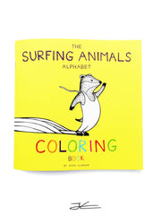 The Surfing Animals - Alphabet Coloring Book