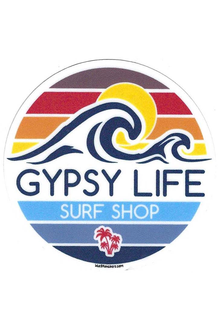 Gypsy Life Surf Shop Sticker - Paradoxical Wave/Palms