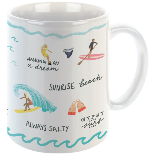 Gypsy Life Surf Shop Mug - 15oz