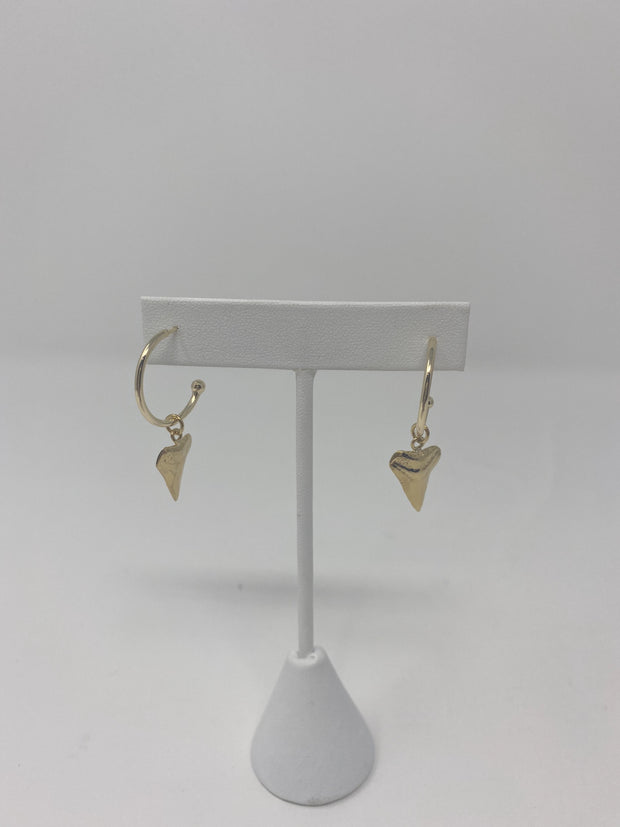 The 'Leanna' Mini Shark Tooth Half Hoop Earrings