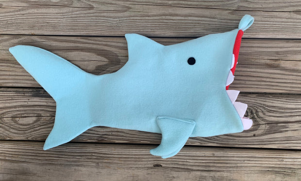 Shark Holiday Stocking - Light Blue
