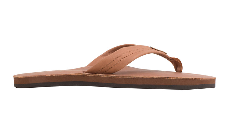 Men's Single Layer Classic Leather with Arch Support - Tan