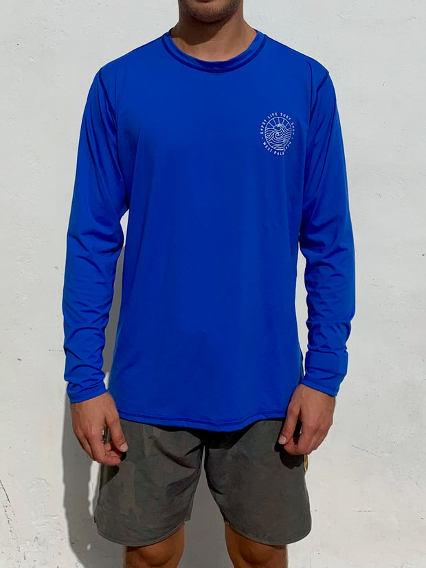 Gypsy Life Surf Shop - OG Logo - L/S Sun Shirt - Royal