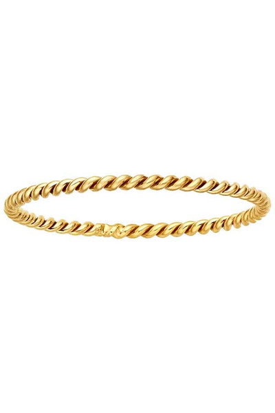 Gypsy Life Twisted Rope Stacking Ring - Yellow Gold-Filled
