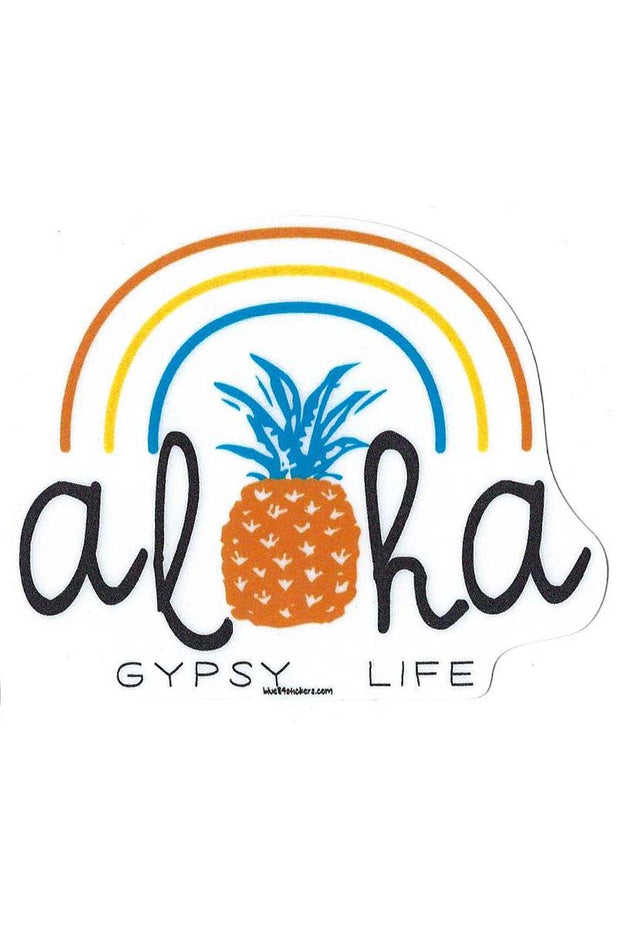 Gypsy Life Surf Shop Sticker - Under the Rainbow Pineapple